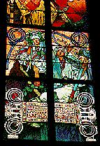 Saint Vitus Cathedral : Stain glass by Alfons Mucha