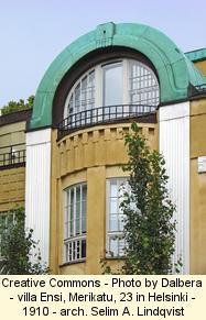 Art Nouveau building in Helsinki, Finland